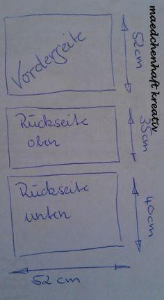 Schritt 1: Schneidet Vorderseite, Rückseite oben und Rückseite unten zurecht.