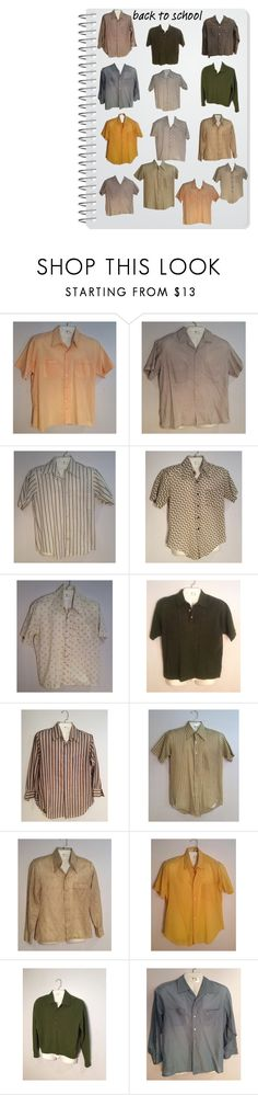 """""""back to school"""" by vintageroyaleny on Polyvore featuring GANT, vintage, men's fashion, menswear, etsy, gotvintage and mensshirts"""
