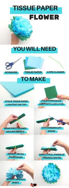 whether you want to know how to make large paper flowers for backdrop or how to make large paper flowers for weddings, this flower tutorial directory has the best diy paper flowers template ideas and video tutorials to help you make gorgeous italian crepe paper flowers or even using lia griffith crepe paper! There are awesome easy craft ideas for construction paper flowers and I even snuck a clay flower tutorial in there! Large Paper Flowers, Tissue Paper Flowers, Paper Roses, Diy Flowers, Flower Diy, Flower Paper, Flower Decorations, Tropical Flowers, Paper Decorations