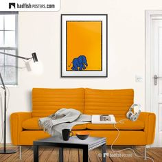 Poster S, Typography Poster, Poster Prints, Elephant Bleu, Elephant Print, Elephants For Kids, Fisher, Student Room, Do It Yourself Furniture