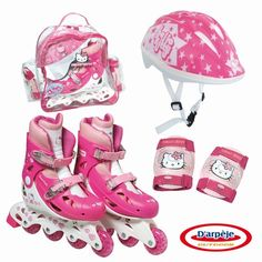 Chat Hello Kitty, Hello Kitty Clothes, Hello Kitty Toys, Princess Toys, Barbie Princess, Baby Girl Toys, Toys For Girls, Makeup Kit For Kids, Kids Roller Skates
