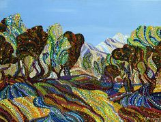 "Saatchi Art Artist Erika Pochybova; Painting, ""Fields of Gold"" #art"