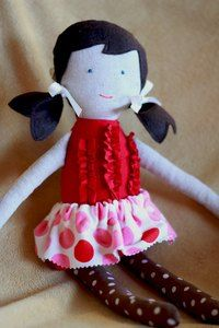 this doll looks pretty similar to the doll my mom made me.  only, mine had yarn hair.