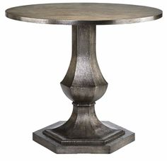 Accent Tables Round Pedestal Table W Hexagonal Post By Stein World Wolf Furniture