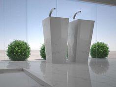 Freestanding single washbasin Xtra Plan Collection by XTRA by GRANITIFIANDRE | design Silvia Stanzani