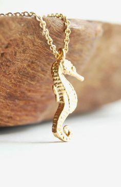 Lio Kai necklace gold sea horse necklace