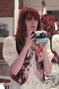 Florence and the Polaroid camera. <3  does it get any better this!?:))) day made xxx