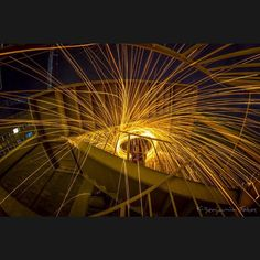 #PhotoADay #FireUpstairs #SteelWool #SteelWoolSpinning #SteelWoolPhotography #Fisheye #FisheyePhotography #Fire #NightPhotography #NightCrawler #Canon #TeamCanon #FireEscape #LongExposurePhotography #LongExposure #LazyShutter by kbenjaminfotos
