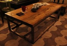 James+James Emmalyn coffee table - prefer ebony stained & distressed top and black painted base. #PinItToWinIt #James+James