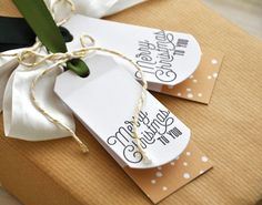 Merry Christmas To You Tags by Maile Belles for Papertrey Ink (October 2015)