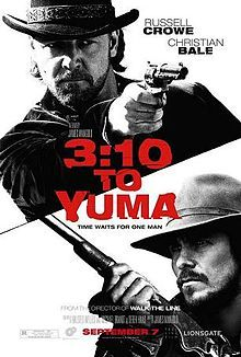 """3:10 to Yuma ~ """"A small-time rancher agrees to hold a captured outlaw who's awaiting a train to go to court in Yuma. A battle of wills ensues as the outlaw tries to psych out the rancher."""""""
