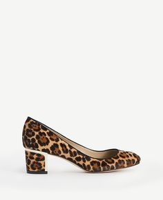 Olive Leopard Print Haircalf Pumps is the perfect piece to add to your closet.