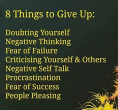 .8 things to give up