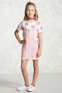 Forever 21 Girls - A knit tee featuring an allover sprinkled donut print, a round neckline, and short sleeves.