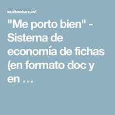 """""""Me porto bien"""" - Sistema de economía de fichas (en formato doc y en …"""