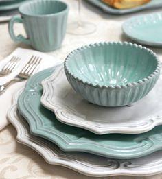 Vietri Incanto Aqua Baroque Dinnerware