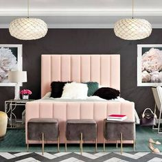 Venus Bed by Diamond Sofa offers a refreshingly chic and sophisticated addition to your bedroom décor. Tufted Bed, Upholstered Platform Bed, Sleigh Bed Frame, Velvet Bedroom, King Platform Bed, Unique Flooring, Bed Lights, Headboard Designs, Headboard And Footboard