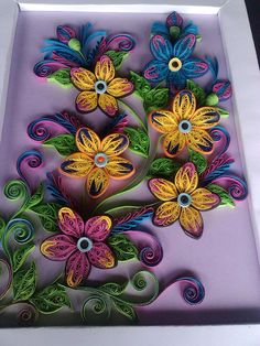 Beautiful Floral Quilling by: Felicitari Si Invitatii - posted in Quilling My Passion-FB