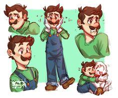 Here for the weegee Mario Y Luigi, Super Mario And Luigi, Super Mario Art, Mario Bros, Super Mario Brothers, Metroid, Fight Me Meme, Luigi And Daisy, Mario Fan Art