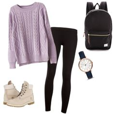 A fashion look from July 2015 featuring James Perse leggings, Timberland ankle booties and FOSSIL watches. Browse and shop related looks.