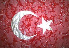 Mining Ummah Ebruli Art Capabilities are the Turkey - www. Turkish Architecture, Ebru Art, Turkish Art, Marble Art, Caligraphy, New Art, Candle Holders, Arts And Crafts, Canvas