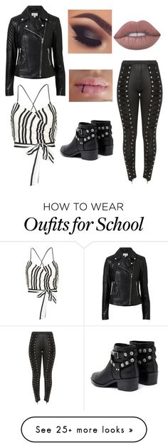 """Too cool for school"" by notforthefaintheart on Polyvore featuring Witchery, Alice + Olivia, Senso and Lime Crime"