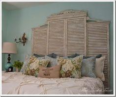 des volets et une tête de lit romantique Ma maison au naturel: Upcycling