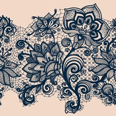 tatoo Abstract Lace Ribbon Seamless Pattern Template frame design for card Lace Doily Can be used for packaging, invitations, and template Tattoo Bein, I Tattoo, Tattoo Thigh, Paisley Lace Tattoo, Black Lace Tattoo, Tattoo Flowers, Paisley Tattoo Design, Lace Thigh Tattoos, Lotus Tattoo