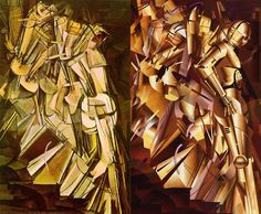 Marcel Duchamp's Nude Descending a Staircase, remixed by John Mattos to feature C3PO descending a staircase