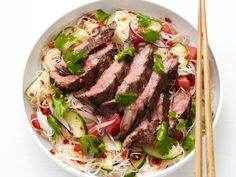 Thai Noodle-Steak Salad recipe from Food Network Kitchen via Food Network