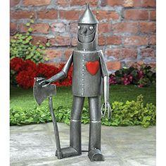 Bits and PiecesSteadfast Tin Woodman with a heart Garden SculptureGarden Dcor Tin Man Yard Art  Garden Statue  Statue Measures 3012 tall x 14 wide >>> Want additional info? Click on the image.