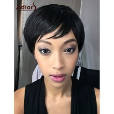 Oblique Bang Adiors Spiffy Short Straight Bob Synthetic Wig #>=#>=#>=#>=#> Click on the pin to check out discount price, color, size, shipping, etc. Save and like it!