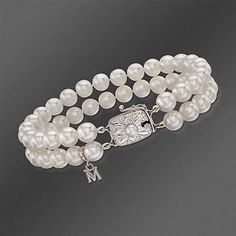 Mikimoto 6.5x6mm A Double-Strand Akoya Pearl Bracelet In 18kt White Gold. 7""