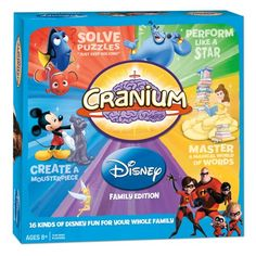 """If you love Cranium games and Disney movies, Cranium has the game for you called simply, """"Cranium Disney.""""  Can you name words a princess says? Hum the tune to Aladdin's A Whole New World? #cranium #disney #boardgames"""