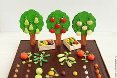 Creating a Cool Clay Garden for Children, фото № 35 Glue Art, Diy Garland, Toddler Toys, Clay Crafts, Diy Crafts For Kids, Activities For Kids, Polymer Clay, Cool Stuff, Create