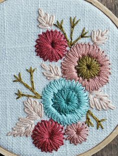 Wonderful Ribbon Embroidery Flowers by Hand Ideas. Enchanting Ribbon Embroidery Flowers by Hand Ideas. Hand Embroidery Tutorial, Hand Embroidery Stitches, Silk Ribbon Embroidery, Crewel Embroidery, Embroidery Techniques, Cross Stitch Embroidery, Embroidery Tattoo, Hungarian Embroidery, Flower Embroidery