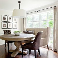 Settee at kitchen table houzz website