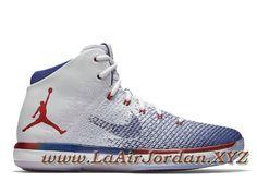 size 40 6224c 80a14 Air Jordan 31 XXX1 Retro USA 845037 107 Chaussures Air jordan pas Cher Pour  Homme Blanc Bleu Air Jordan 31