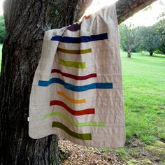 Modern Baby Blanket, Receiving Blanket, Stripes. $42.00, via Etsy.