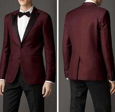 High Quality Two Button Burgundy Groom Tuxedos Groomsmen Men's Wedding Prom Suits Custom Made (Jacket+Pants+Girdle+Tie) Groom Tuxedo Wedding, Prom Tuxedo, Wedding Suits, Wedding Attire, Groom Attire, Groom And Groomsmen, Good Prom Suits, Burgundy Suit, Formal Suits