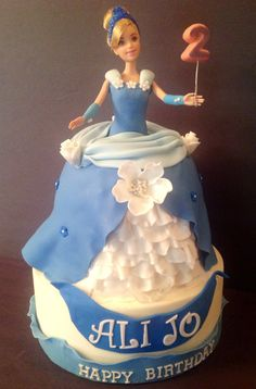 - Cinderella cake for a 2 year old girl... I,had such a hard time trying to decide on what gown to make . This was how it came out.