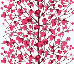 decorating: favourite wallpaper pattern from marimekko Marimekko Wallpaper, Pattern Wallpaper, Pink Wallpaper, Wallpaper Designs, Fabric Wallpaper, Textiles, Textile Patterns, Illustrations, Love Painting