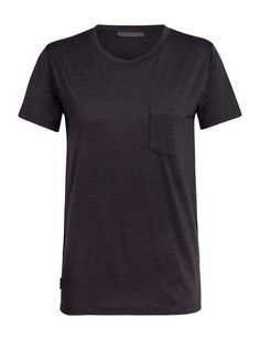 Womens Merino Nature Dye Drayden Short Sleeve Pocket Crewe Top| icebreaker