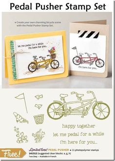 alison archives designs: Sale-a-Bration Countdown Day Together Lets, Happy Together, Old Fashioned Bike, Bicycle Cards, Pedal Pushers, Button Cards, Tandem, Are You Happy, Stampin Up
