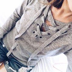 abercrombie-grey-lace-up-sweater-rag-and-bone-boyfriend-shorts