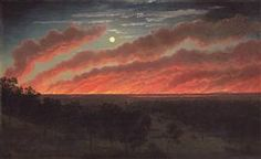 Bush fire between Mount Elephant and Timboon - Eugene von Guerard
