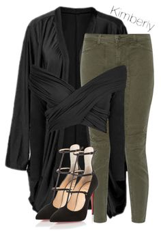 """Untitled #1766"" by whokd ❤ liked on Polyvore featuring J Brand and Christian Louboutin"