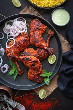 Make this iconic restaurant style authentic tandoori chicken recipe on a grill or oven or gas stove. An irresistible grilled chicken tandoori recipe which is easy and best and requires no secret tandoori chicken masala. Chicken Tandoori Masala, Authentic Tandoori Chicken Recipe, Tandoori Chicken Marinade, Tandoori Recipes, Indian Chicken Recipes, Indian Food Recipes, Tandoori Masala Recipe, Best Chicken Tikka Recipe, Grilled Chicken Recipes