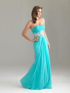 Buy Custom Made High Quality 2012 Style Strapless Rhinestone Sleeveless Long Blue Sexy Prom Dresses / Evening Dresses PD7101 at wholesale cheap prices from Bridal-Buy.com