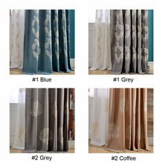 1 piece readymade embroidered blackout curtain panels, #Lau-XHZJM cotton linen modern kitchen blinds sheer living room curtains  #Affiliate